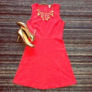 J.CREW Hot Pink Fit & Flare Dress - Sz: 4